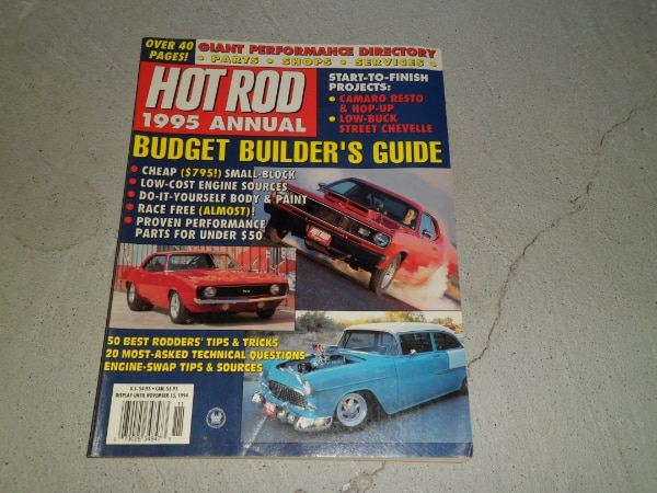 LOT OF 2 VINTAGE HOT ROD MAGAZINE YEARBOOK 1987 1995 ANNUAL MAGAZINE BACK  ISSUES
