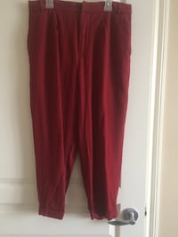 Women's red pants Leduc, T9E