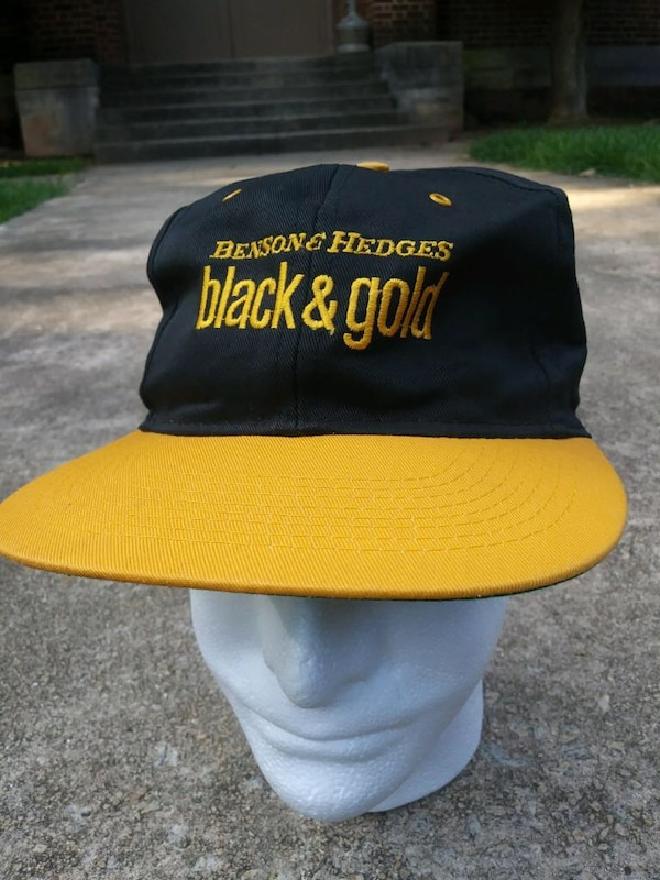 04d01828a31 Used Black and yellow vintage Benson hedges SnapBack for sale in Atlanta -  letgo