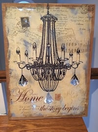 """Home wall hanging with dangling crystals 24"""" x 18"""" Smyrna, 37167"""