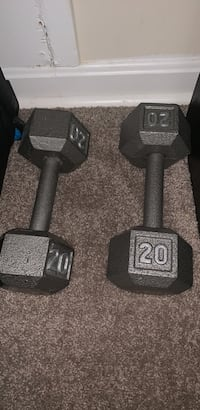 pair of gray fixed weight dumbbells Alexandria, 22304