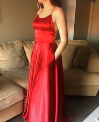 Red Silky Prom Dress