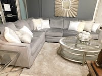Grey velvet Sectional with Nailheads  Bothell, 98012