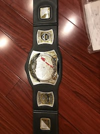 gold-colored and black WWE champion belt