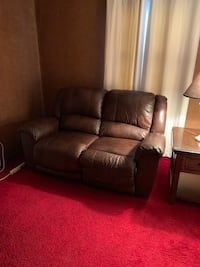 Brown leather couch Norwalk, 06851