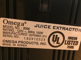 Juicer Extractor by Omega (used)