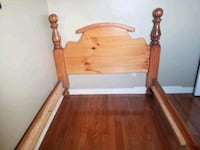 SOLID WOOD DOUBLE BED 552 km