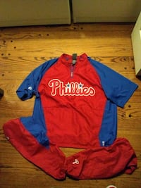 Phillies coolbase windbreaker stitched pullover