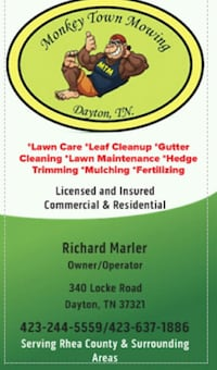 Lawn mowing and leaf cleanup and pressure washing
