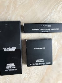 three MAC cosmetic product boxes Mississauga, L5M