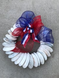 Holiday wreath, hand-crafted with local clam shells. Oceano, 93445