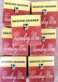 7 spools for Webster wire recording machine Woodstock, 22664