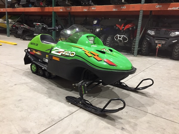 2000 Arctic Cat z120 z 120 kids mini z youth snowmobile will trade