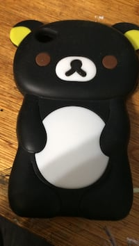 Black and yellow bear iPhone case