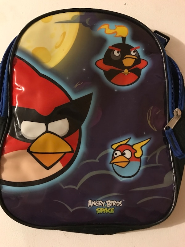 Toddle black angry birds space backpack