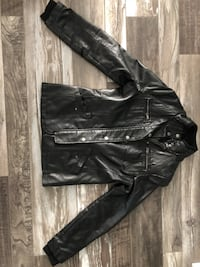 Black Leather Jacket (Size Small)