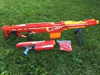 NERF blasters. Excellent condition. Refill dart pack included Ottawa, K1T