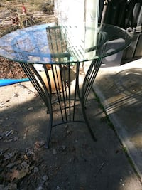 kitchen table with glass top
