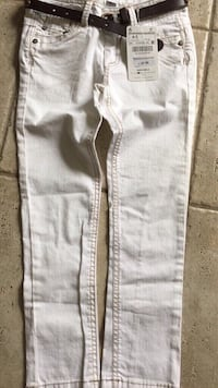 Brand New Zara girl white denim straight cut jeans size 4/5 youth Vaughan, L4L 6A9