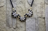 Black and silver necklace