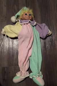 "Troll Soft Terry Cloth 24"" Pajama Bag Clown Jester Vintage Russ rare Englewood, 80112"