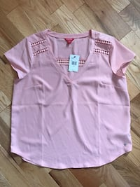 pink and white polo shirt Russell, K0A 1W0