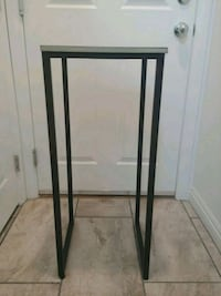 Iron w/ Wood Top Accessory Table