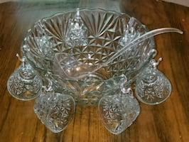 Glass Punchbowl Set/Party/Wedding/Event