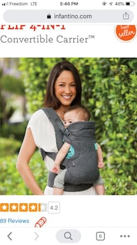 Baby carrier infantino gray colour Toronto, M1J 3E2
