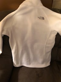 white The North Face jacket