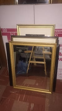 brown wooden framed wall mirror Toronto, M3H 1W7