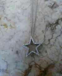14kt white gold star necklace