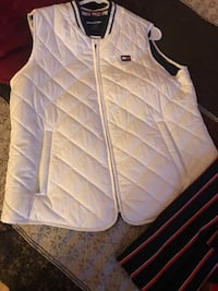 A vest and a red blue and white casual Capri set never worn red heels Bolingbrook, 60440