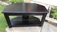 rectangular black wooden coffee table null