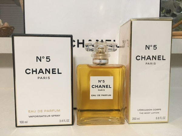 Begagnad Chanel No 5 Perfume For Women 2pc Gift Set Edp 34oz 68