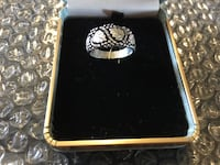 Black Hills Gold co. All silver ring Made in the USA size 10 3/4