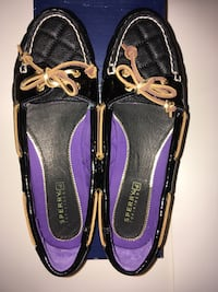 Sperry Black Quilted Loafers Leather Women 7M New with Box Montréal, H4G 1M2