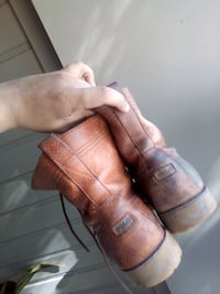 pair of brown leather cowboy boots Mesquite, 75150