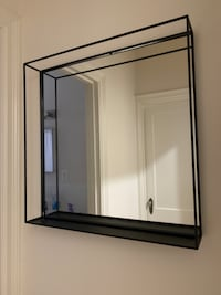Beautiful black square mirror - Like new!