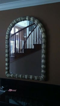 Large steel framed mirror