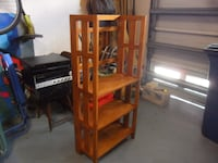 Sold Wood Shelving Unit Fort Myers