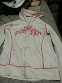 white and pink floral zip-up hoodie Hamilton, L8P 3T6