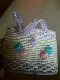 white and purple floral textile purse Mumbai, 400058