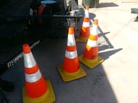 4 yellow and red road cones  Garden Grove, 92844