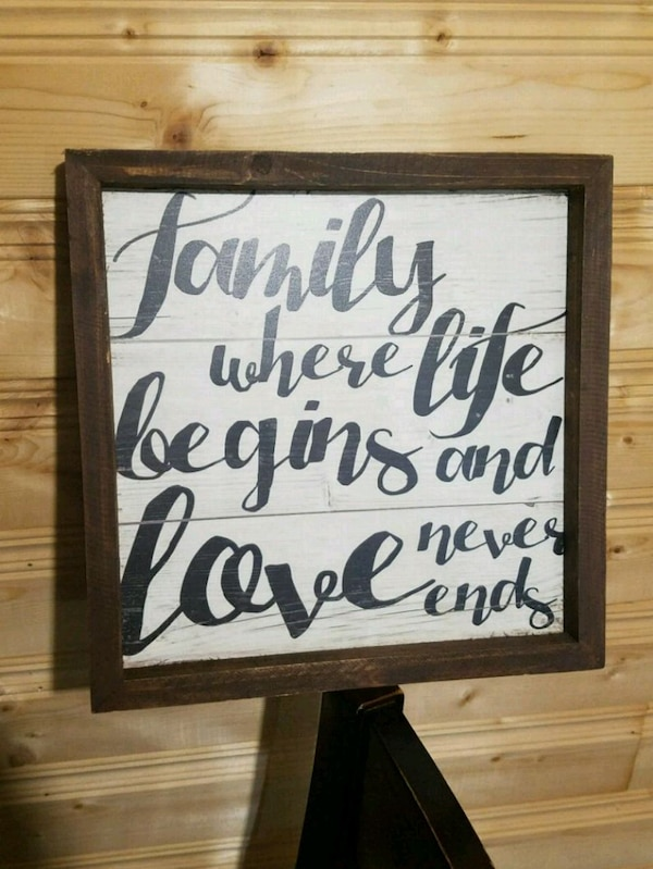 family quotes text frame
