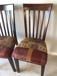 2 upholstered dining chairs  Rogers, 72758
