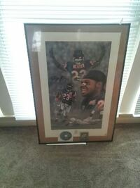 football player print with black frame Marengo, 60152