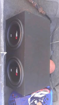 black and red subwoofer speaker Long Beach, 90813