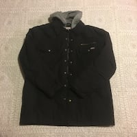 Brand New Men's XL Dickies Zip & Button Up Hooded Jacket US, 97024
