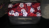 Black and white floral leather wristlet Newark, 19716